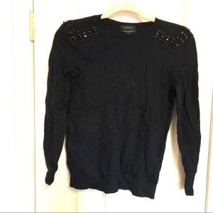 J.Crew | black studded sweater